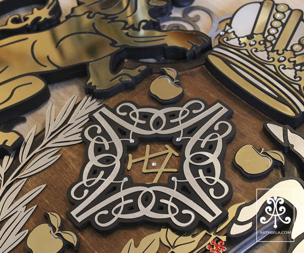 заказать семейный герб с инициалами